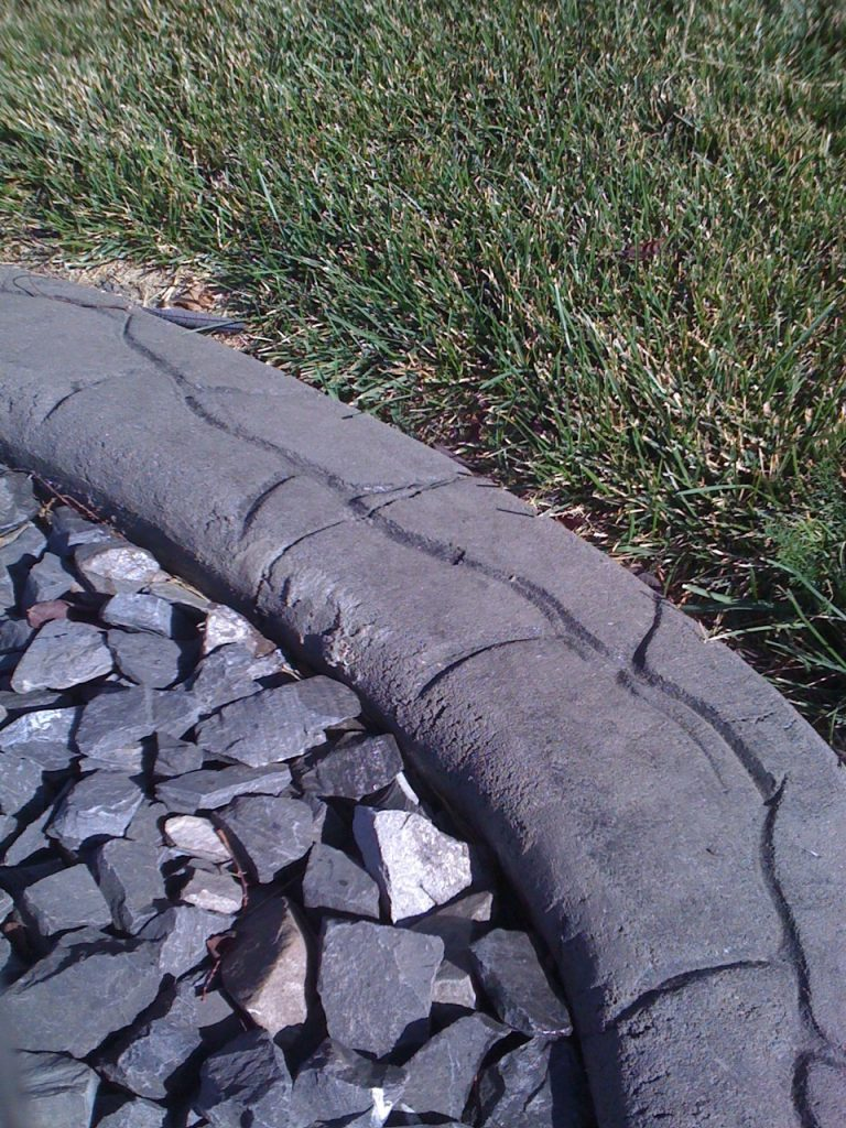 We see a lot of this very rough finishing on the quick kerb product.