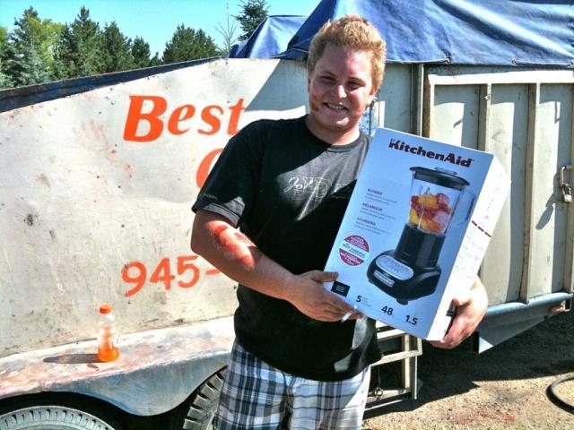 Shawn with Mixmaster award