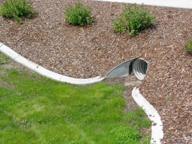a solution for dealing with a culvert in the lawn