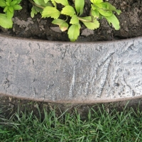 Base- medium taupe  Release-  dark grey Stamp- stucco curb