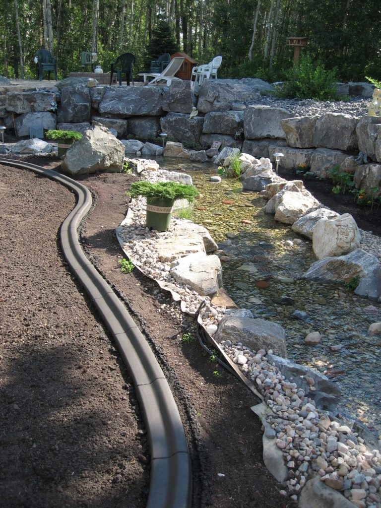 curb along water feature