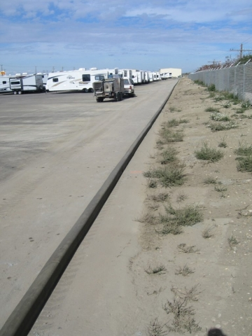 5X6 pinned on asphalt a 600 foot long line