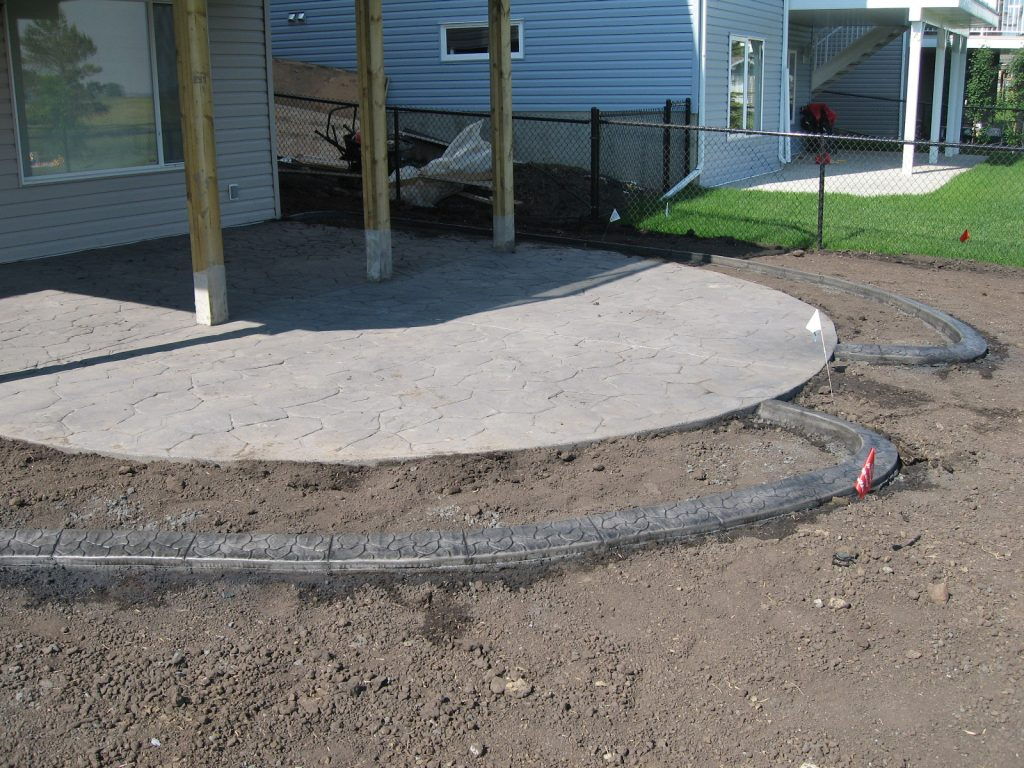 planting area beside patio