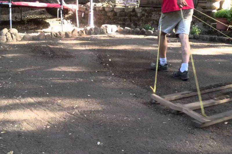 Flatten new topsoil- how to do it.