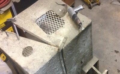 concrete mess