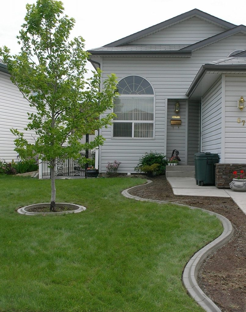 typical front yard curbing