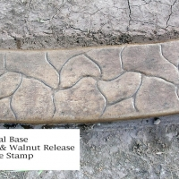Base-  sand  Release- dark grey  Stamp- cobble curb