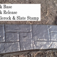 Base- near black   Release-  black Stamp- castlerock/slate curb