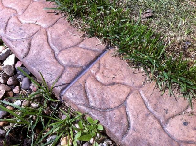 a filled gap in curbing