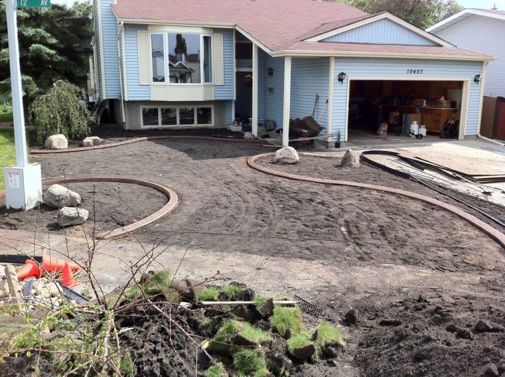 modernized look front yard
