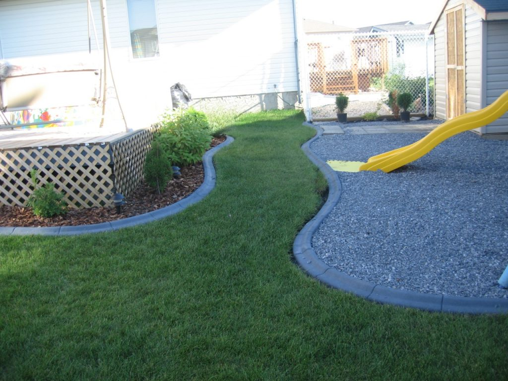 play area created with curbing