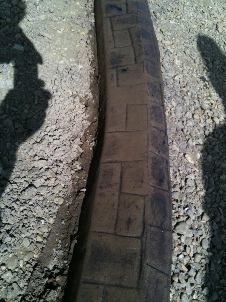 5X6 stamped curb