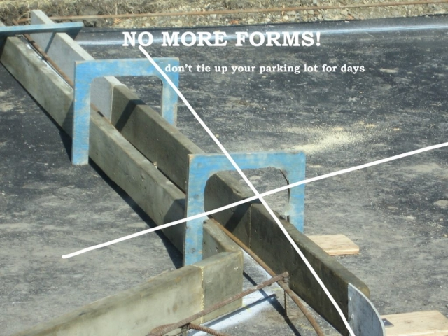no forms don't tie up your parking lot!