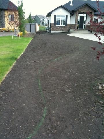 Good curbing ground Prep on  final grade