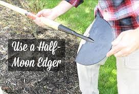 half moon edger for curb prep  SHARPEN IT!